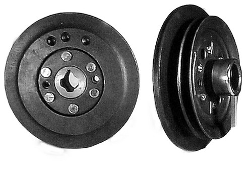 "CHEV 235 1953-54  RIVETED 3/8"" PULLEY W/ CRANK STARTER"